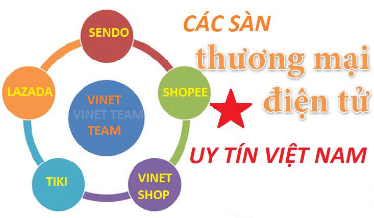 Các sàn thương mại điện tử là đối tác với Vinet