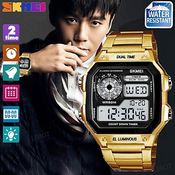 cách chỉnh đồng hồ điện tử đeo tay skmei 2