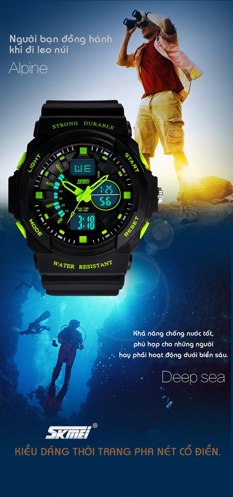 cách chỉnh đồng hồ điện tử đeo tay skmei 3