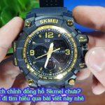 cách chỉnh đồng hồ điện tử đeo tay skmei 5