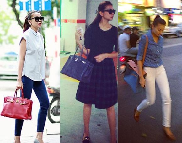 những mẫu túi xách nữ hàng hiệu hermes của ngôi sao vbiz