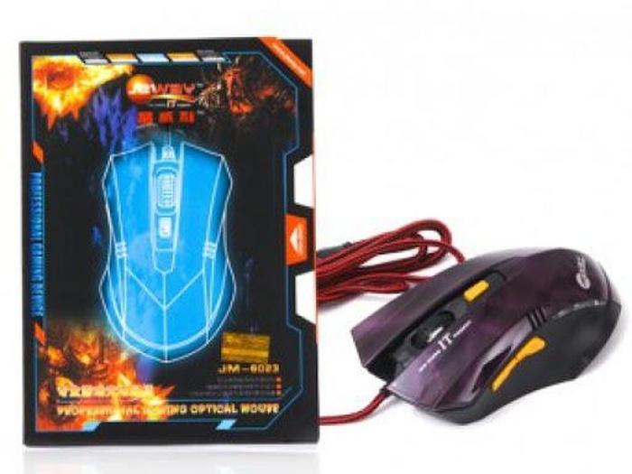 """Vẻ ngoài """"chất ngang nước cất"""" của chuột có dây quang chuyên game Jeway 6023"""