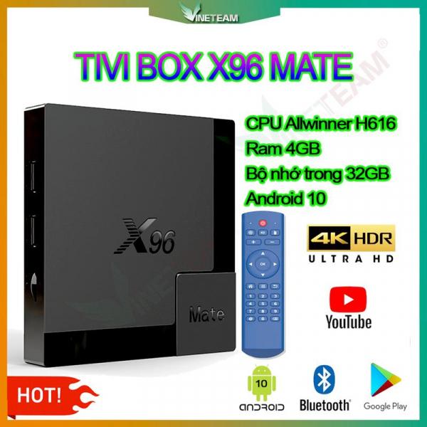 Android Tivi Box X96 Mate 4G 32G Allwinner H616 Android 10 [Tặng chuột không dây]