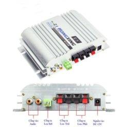 Ampli Mini 12V Hifi 2.1 độ xe nghe nhạc cực hay HX-168AH