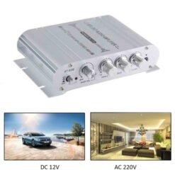 Amply mini ST-838 12V Hi-Fi 2.1 cho Xe ô tô, Xe máy, âm thanh gia đình