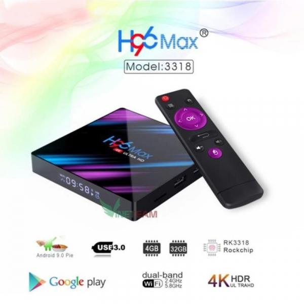 Hộp TV Thông Minh H96MAX - RK3318 TiVi Box android 9.0 4GB RAM 32GB ROM Hỗ trợ Bluetooth 4K smart tv box