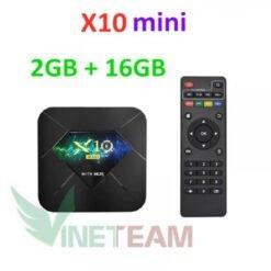 Android TV BOX X10 Mini xem phim 6K, chơi game Chipset xịn H313 lõi tứ✔Tích hợp FPT Play - Biến TV thường thành Smart TV