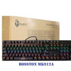 Bàn phím Bosston MK912A Led Rainbow Blue Switch/Red Switch (Đen)