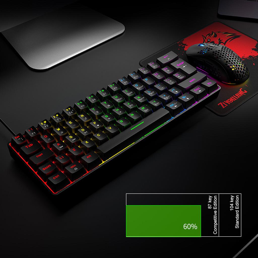 Bàn Phím Cơ Mini Gaming Ziyoulang T60