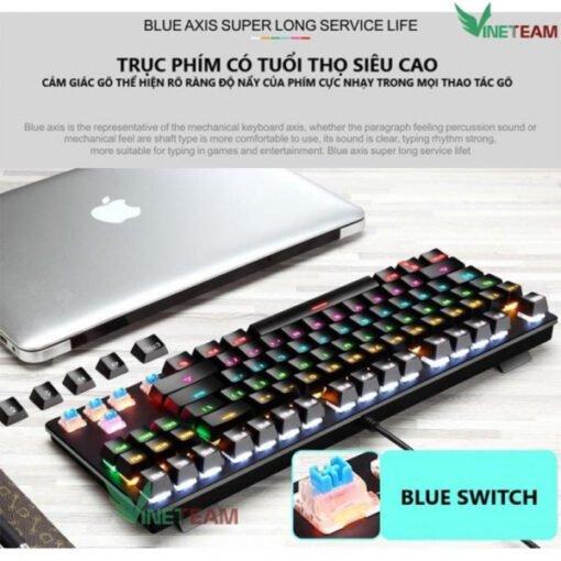 Bàn phím cơ CRACK K550, Blue Switch Gaming, Led RGB