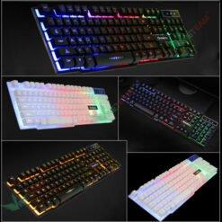 Bàn phím giả cơ V8 chuyên game LED 7 màu