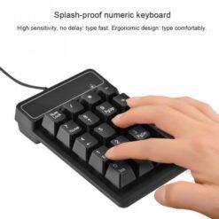 Bàn phím số cho kế toán - 2.4GHz, 19 phím (có loại có dây và loại không dây)