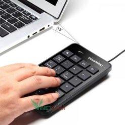 Bàn phím số có dây DIVIPARD D500 Cổng kết nối USB