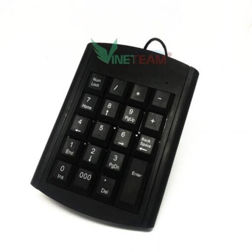 Bàn phím số rời có dây kết nối cổng USB cho máy tính , laptop sử dụng cho kế toán Model KJ-06