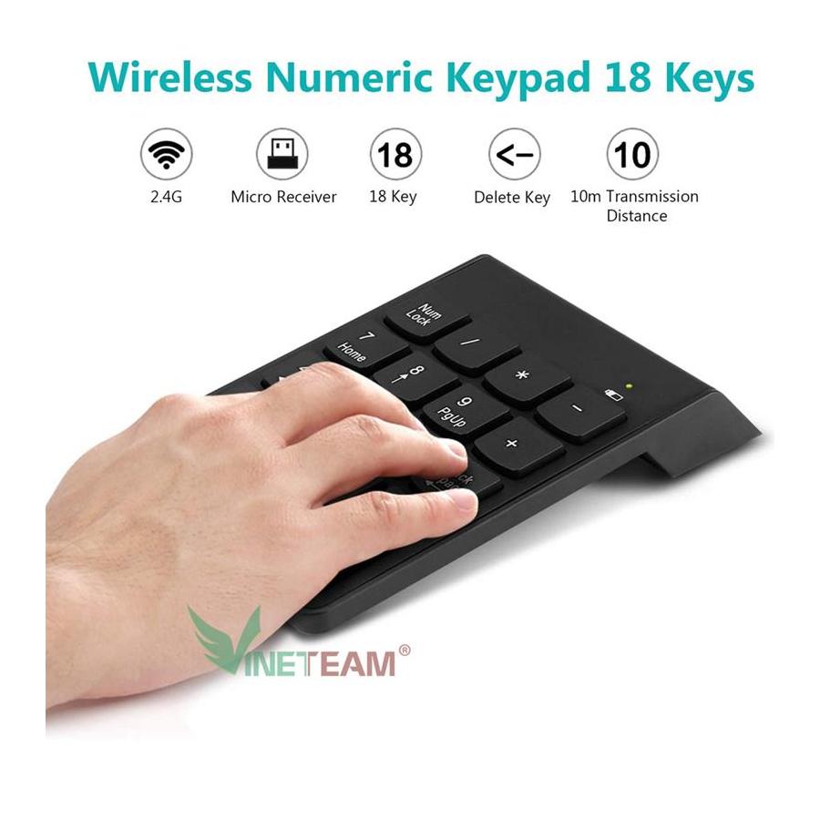bàn phím số rời không dây