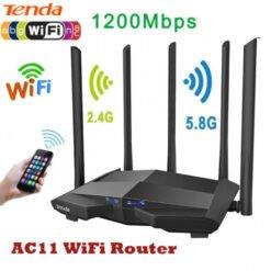 Bộ Phát Wifi Tenda AC11, Băng Tần Kép 2.4 & 5.0 Ghz, 5 Anten 6dBi ( LAN Gigabit)