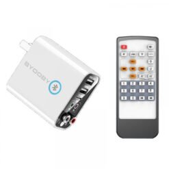 Bộ chuyển đổi âm thanh Bluetooth 5.0 K16 với 6 chức năng, 3 ngõ vào, hỗ trợ sạc nhanh 220V/2A