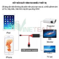 Cáp Lightning to HDMI - Kết Nối Iphone Ipad Cổng Lightning Với Tivi Earldom MHL
