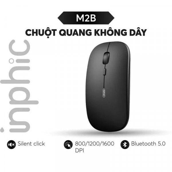 Chuột bluetooth cho Laptop Smartphone Tablet Inphic M2B