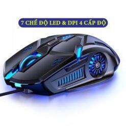 Chuột máy tính chơi game G5, hiệu ứng ánh sáng 7 màu, DPI 4 cấp độ