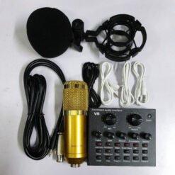 Trọn bộ hát livestream thu âm karaoke online micro BM800 +sound card v8