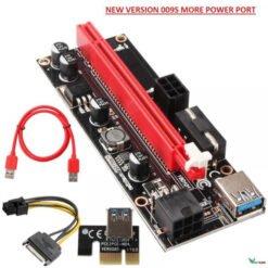Dây Riser 009s Có LED màu đỏ CAO CẤP Mới 100% Hàng Chuẩn Riser pci-e 1x to 16x dây usb 3.0