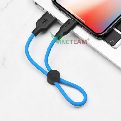 Cáp Lightning Hoco X21 Dài 0,25m Dành cho điện thoại Iphone- Hàng Chính Hãng
