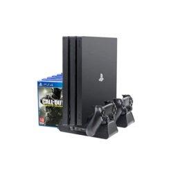 Đế Tản Nhiệt Kèm Khay Đựng Đĩa Game Cho Máy PS4 Pro & PS4