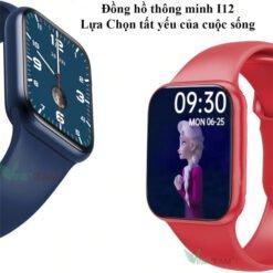 I12 smartwatch - Đồng Hồ Thông Minh Seri 6 Có Tiếng Việt, Nghe Gọi, Thay Hình Nền, Cảm Ứng Siêu Mượt