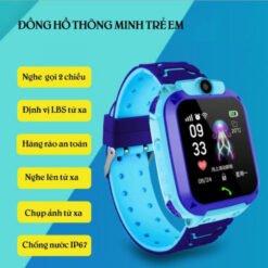 Đồng Hồ Thông Minh Trẻ Em S12 Chống Nước IP67 Có Tiếng Việt, Nghe Gọi Hai Chiều (Bảo hành 3 tháng)