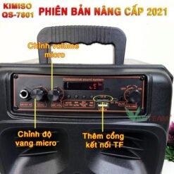 Loa Kéo Di Động Bluetooth Karaoke KIMISO QS-7801 ̣̣̣(Tặng Kèm 1 Micro Có Dây)