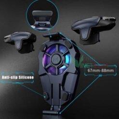 Nút bấm autotap kèm quạt tản nhiệt MEMO AK03 chơi game PUBG, COD cực thích, quạt cực mát