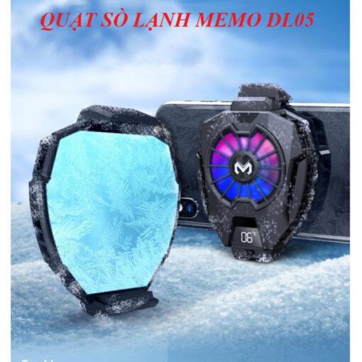 Quạt tản nhiệt điện thoại MEMO DL05 - Siêu lạnh, hiển thị nhiệt độ, LED RGB, Kẹp thu vào 2 chiều
