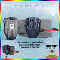Quạt tản nhiệt gaming Memo DL02 cho điện thoại, tản nhiệt sò lạnh thế hệ 2, làm mát nhanh hơn