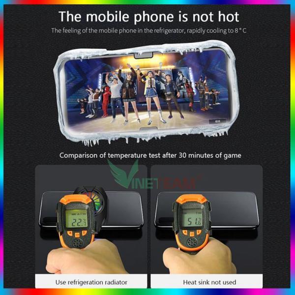 Quạt tản nhiệt điện thoại Memo DL06 – Mẫu mới 2021 – Bản nâng cấp vượt trội